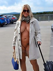 Alluring mature strumpet showing off her jugs