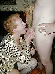 Sensuous older mom having fun