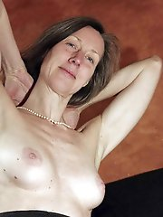 Libidinous mature girls playing with their boobs