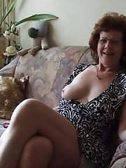 Cock addicted older lasses playing with their holes