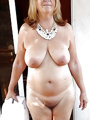 Mature tart getting naked on picture