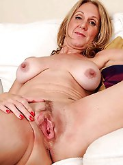 Mature mistress playing herself