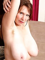 Rose Bennett, Hairy Mature with Big Tits