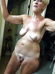 Attractive aged moms getting undressed on photo