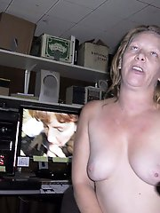 Adorable older businesswoman get undressed for you