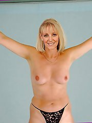 Charming mature gilfs revealing their titties