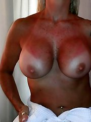 Boat nudism with mature amateur milfs