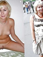 Experienced woman posing naked in public