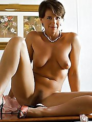 German mature businesswomen with unshaved vagina