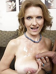 Mature cougars get undressed