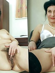 Libidinous old mommies playing with their slit