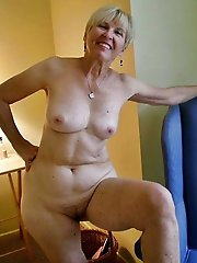 Horny mature damsels playing with their titties