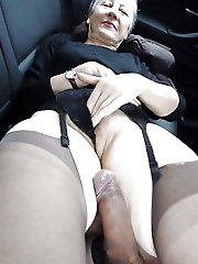 Delightful mature dames in provocative panties