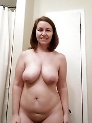 Juicy mature MILFs with unshaved slit