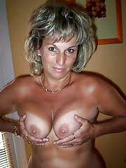 Naughty aged grannies showing off their titties